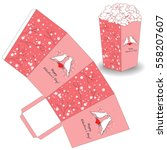 popcorn template for valentine...   Shutterstock .eps vector #558207607