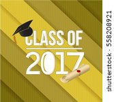 class of 2018 white sign... | Shutterstock .eps vector #558208921