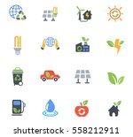 alternative energy web icons... | Shutterstock .eps vector #558212911