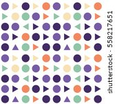abstract circles and triangles...   Shutterstock .eps vector #558217651
