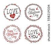 vector wreaths on white... | Shutterstock .eps vector #558219334