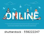 online addiction concept... | Shutterstock .eps vector #558222247