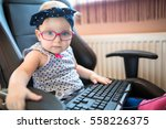 Little Girl In Pink Glasses...