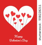 valentine's day cute hearts... | Shutterstock .eps vector #558228211