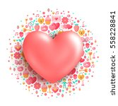 valentine's day concept icon....