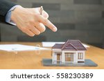 banks are going to seize homes | Shutterstock . vector #558230389