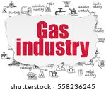 industry concept  painted red... | Shutterstock . vector #558236245