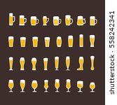 beer glasses and mugs flat icon ... | Shutterstock .eps vector #558242341