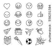 hand drawn doodle emoji | Shutterstock .eps vector #558251584