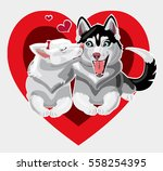 happy valentine's day love is... | Shutterstock .eps vector #558254395