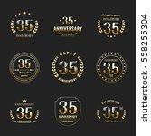 thirty five years anniversary... | Shutterstock .eps vector #558255304