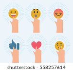 vector cartoon funny... | Shutterstock .eps vector #558257614