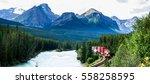 train passing famous morant's...   Shutterstock . vector #558258595
