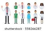 hospital medical staff team... | Shutterstock .eps vector #558266287