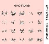 Set Of Han Drawn Emotional Faces