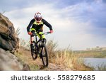professional cyclist riding the ... | Shutterstock . vector #558279685