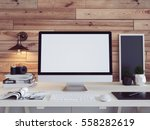 computer monitor to enter text... | Shutterstock . vector #558282619
