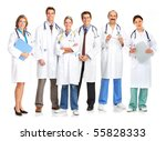 smiling medical doctors with... | Shutterstock . vector #55828333