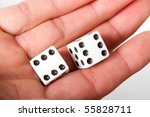 A close up of a pair of dice - stock photo
