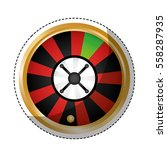 roulette casino related icon... | Shutterstock .eps vector #558287935