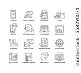 thin line flat conceptual icons.... | Shutterstock .eps vector #558290071