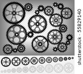 collection of gears totally... | Shutterstock .eps vector #55829140