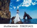 beautiful sexy woman glamor... | Shutterstock . vector #558291421