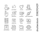thin line flat conceptual icons.... | Shutterstock .eps vector #558292429