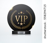 vip invitation with black award ... | Shutterstock .eps vector #558294715