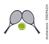 tennis sport rackets emblem | Shutterstock .eps vector #558296224
