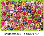 Color Vector Hippies Flowers...