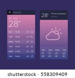 weather application screens...