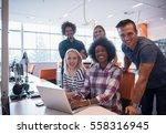 multiethnic startup business... | Shutterstock . vector #558316945
