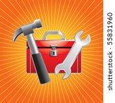 toolbox orange starburst | Shutterstock .eps vector #55831960