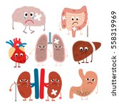 diseased human organs in a... | Shutterstock .eps vector #558319969