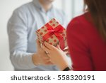 valentine's day concept. a... | Shutterstock . vector #558320191