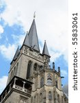 tower of cathedral in aachen ... | Shutterstock . vector #55833061