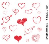 set of isolated hand drawn... | Shutterstock .eps vector #558332404