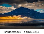 bonneville salt flats covered... | Shutterstock . vector #558333211