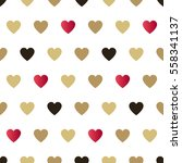 seamless background hearts. | Shutterstock . vector #558341137
