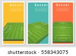 set of football field graphic... | Shutterstock .eps vector #558343075