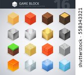 isometric colorful material... | Shutterstock .eps vector #558343321