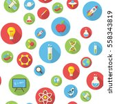 seamless pattern with science... | Shutterstock .eps vector #558343819