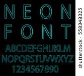 neon font city text  night... | Shutterstock .eps vector #558348325
