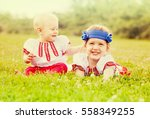 Two Children In Traditional...