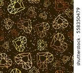 vector seamless black glossy... | Shutterstock .eps vector #558350479
