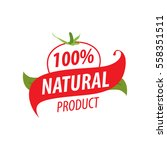 logo  a natural product  juice  ... | Shutterstock .eps vector #558351511