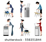 vector illustration of a six... | Shutterstock .eps vector #558351844