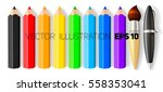 set of realistic colored... | Shutterstock .eps vector #558353041