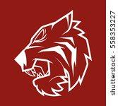 tiger head    Shutterstock .eps vector #558353227